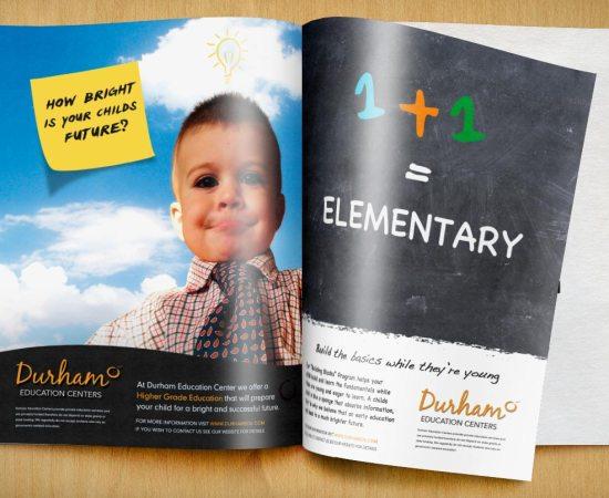 Howzit Media Marketing, Durham Education Center Magazine Ads