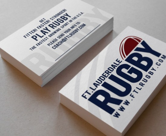 Howzit Media Marketing, Fort Lauderdale Rugby Club logo and business card design