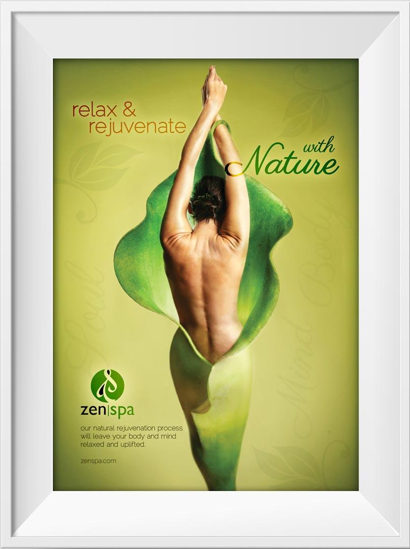 Zen poster design - Howzit Media Marketing Zen Spa Poster Design