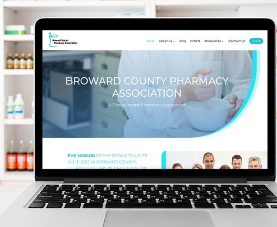 Broward County Pharmacy Association website design