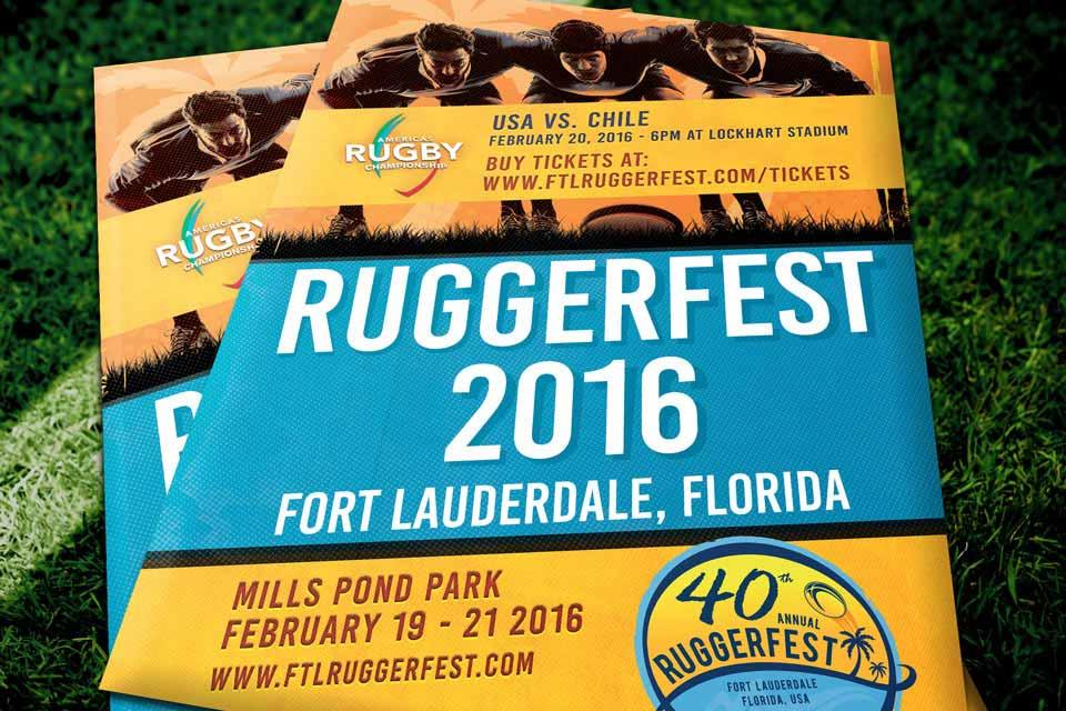 Fort Lauderdale Ruggerfest 2016 Flyer branding