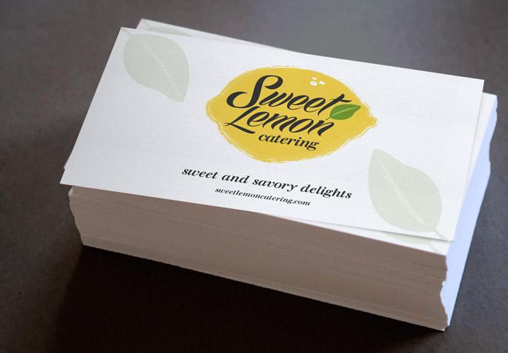 Sweet Lemon Catering business card branding