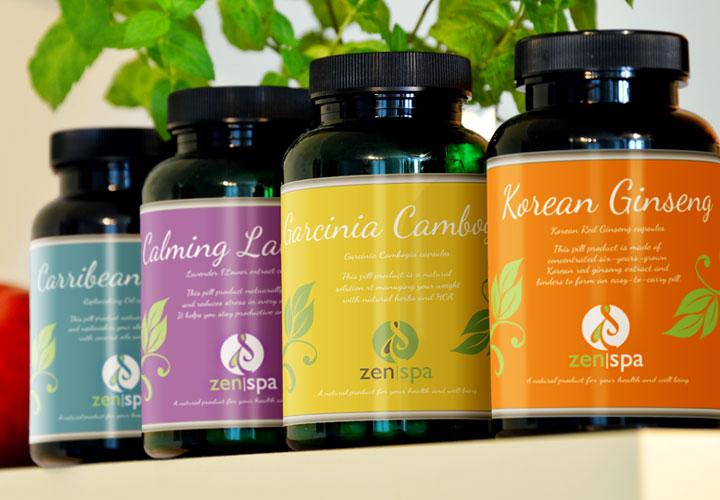Zen Spa product packaging branding