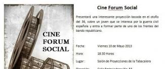 Ir al evento: CINE FORUM SOCIAL
