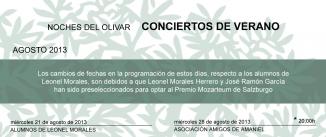 Ir al evento: CONCIERTOS DE AGOSTO EN EL OLIVAR