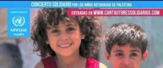 Ir al evento: CANTAUTORES POR LOS NIÑOS REFUGIADOS DE PALESTINA