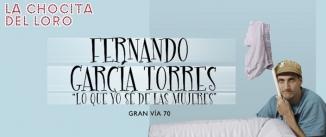 Ir al evento: Monólogos: FERNANDO GARCÍA - Lo que yo sé de las mujeres