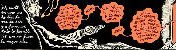 Viñeta de 'Lo que me está pasando', primer libro de Miguel Brieva (Reservoir Books).