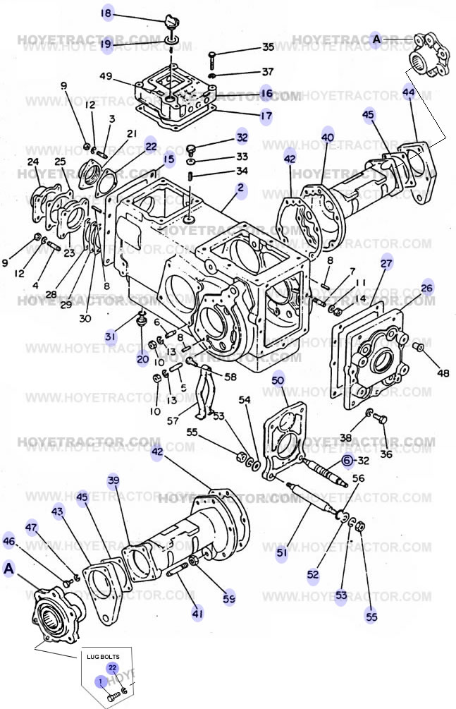 Transmission Case Yanmar Tractor Parts