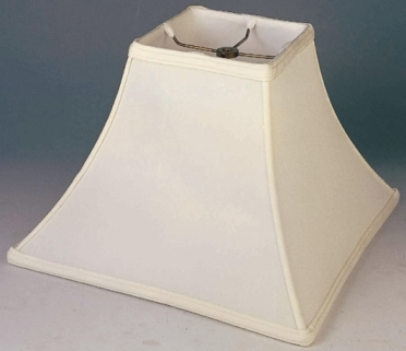 Square Lamp Shade Silk With Bell Curved Sides