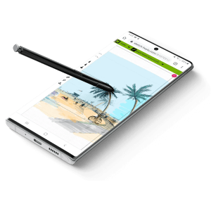 Hoylu Connected Workspaces™ application displayed on pen-enabled smartphone