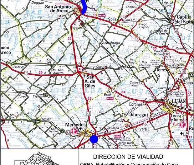 Ruta 41: licitan casi 20 millones en obras para Areco, Baradero y Mercedes