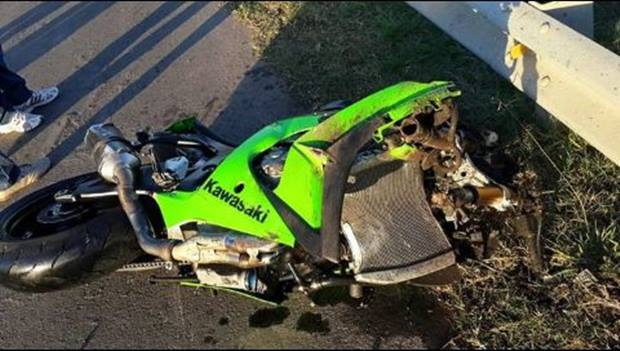 Accidente fatal, tras fuerte impacto, para motociclista en Ruta Nacional 5