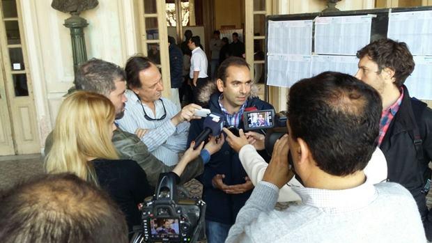 Tras votar: Lucas Fal satisfecho con el trabajo realizado