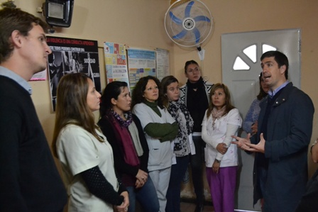 Ustarroz recorre los diferentes Centros Primarios de la Salud