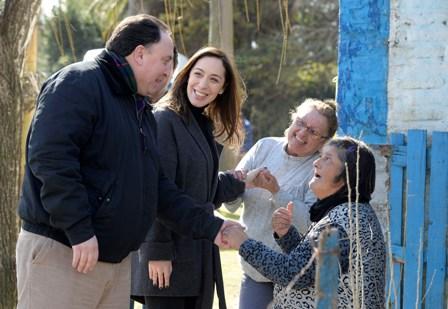 Vidal visitó Las Heras y Navarro