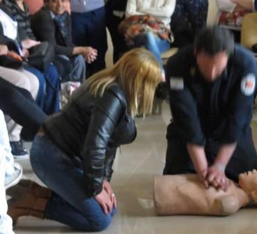 Hoy curso de RCP y Primeros auxilios en Agote
