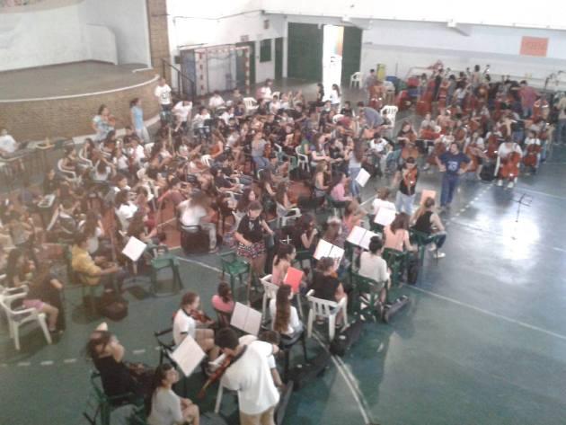 La Orquesta Escuela de Mercedes participó de encuentro en Moreno