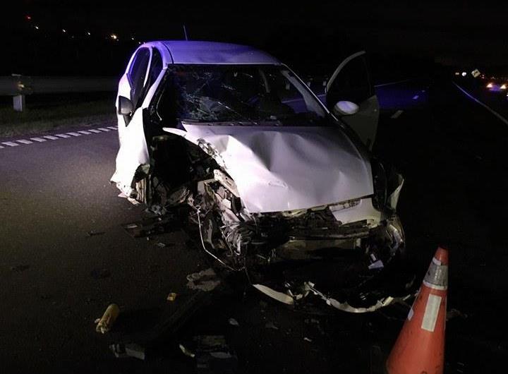 Grave accidente en el tramo nuevo de la Ruta Nacional N°5