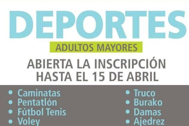 Adultos Mayores: Abierta inscripción para Torneos Bonaerenses