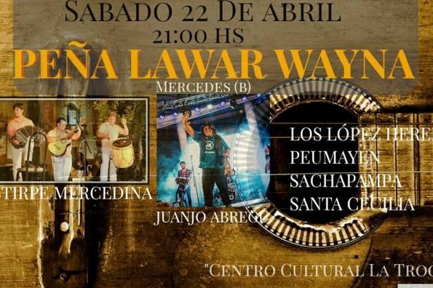 Sábado de Peña Lawar Wayna en el Quilmes