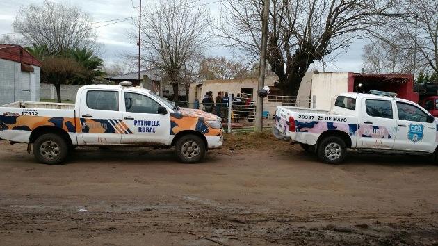 Ocho personas detenidas sospechadas de participar en robos en zona rural