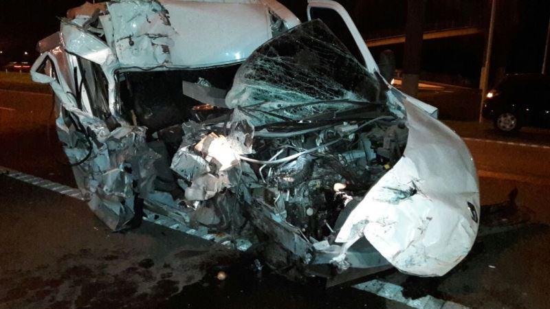 Accidente con suerte en la R5
