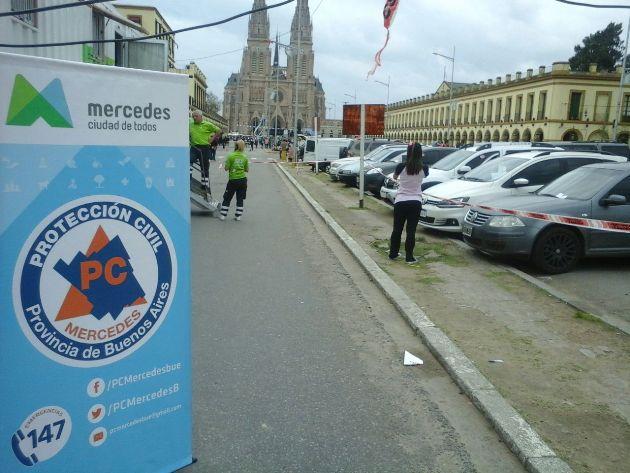 Protección Civil Mercedes colaboró en la peregrinación de jóvenes