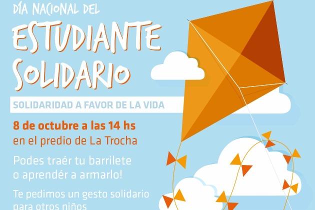 Barrileteada en el día del Estudiante Solidario