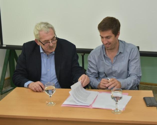 Ustarroz y Ferronato ratifican convenio para que el CBC siga en Mercedes