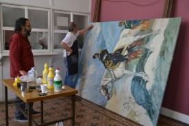 Restauración del cuadro que recuerda a San Martín