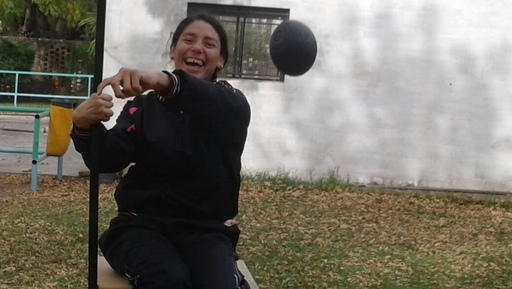 Romina Fernández viajó a Lobería a entrenar con la Selección