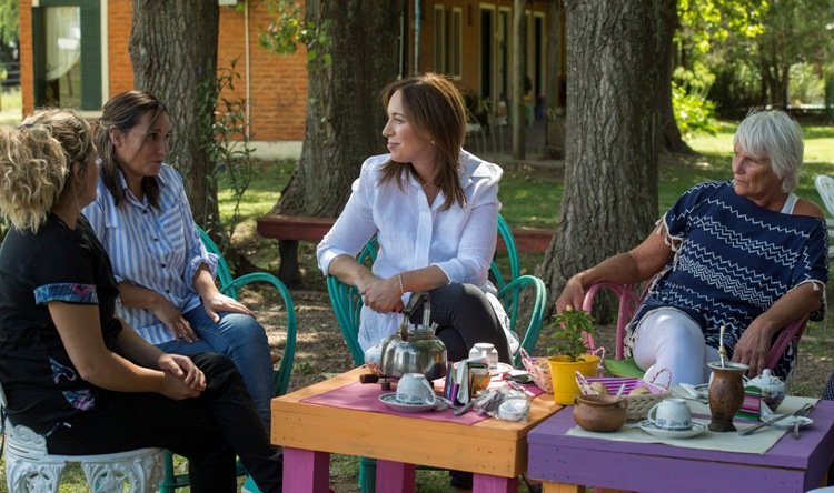 Vidal visitó a mujeres emprendedoras en Suipacha