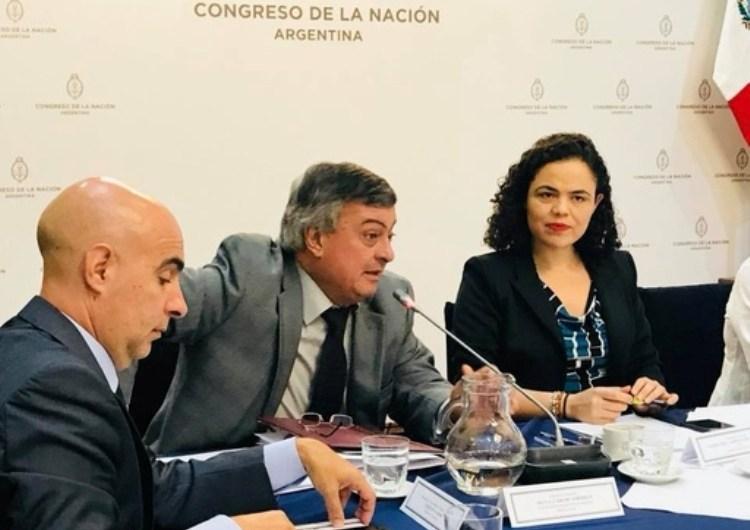 Selva disertó en la Mesa de Cooperación del Grupo Parlamentario de Amistad con México