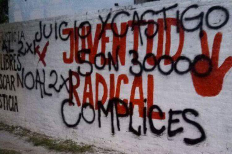 Vandalizan mural por la Memoria realizado por la Juventud Radical