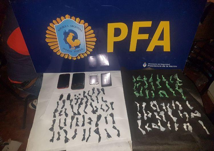 Policía Federal Mercedes secuestra dosis de cocaína en General Rodríguez