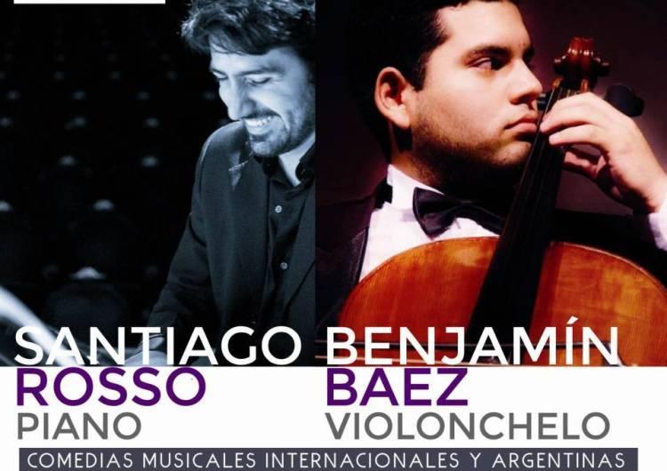 Piano y violonchelo en el concierto del Colegio Nacional