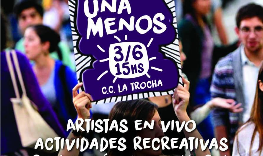 Música, arte y recreación en encuentro #NiUNaMenos este domingo en La Trocha