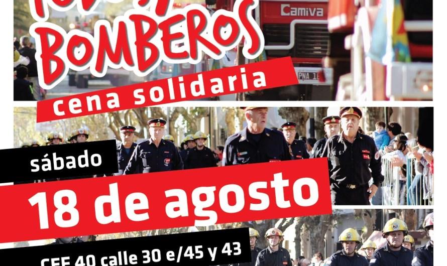 """Bomberos y Municipio organizan cena solidaria """"Todos x Bomberos"""""""