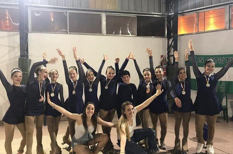 Medio centenar de patinadoras de Estudiantes en la última fecha de CEDEP
