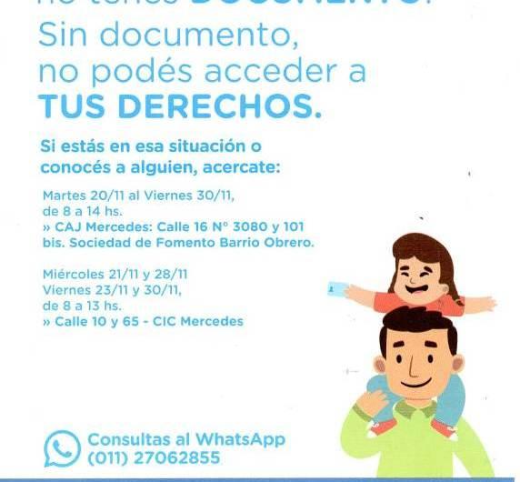 Campaña de gestión de DNI para personas que nunca tuvieron documentos de identidad