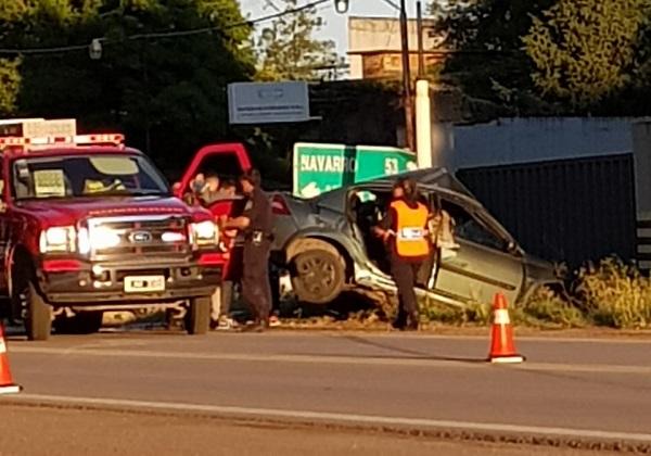Siniestro Vial en Ruta 5 en Luján con un fallecido y un menor herido