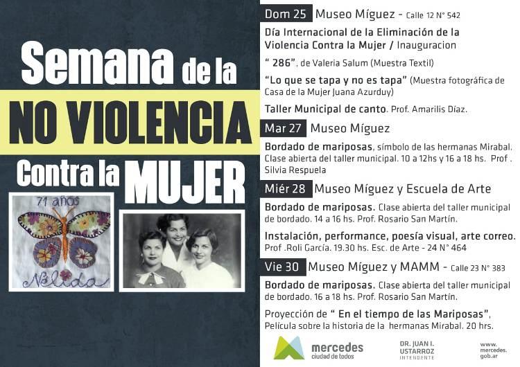 """Se realizará una """"Semana de la no violencia contra la mujer"""""""
