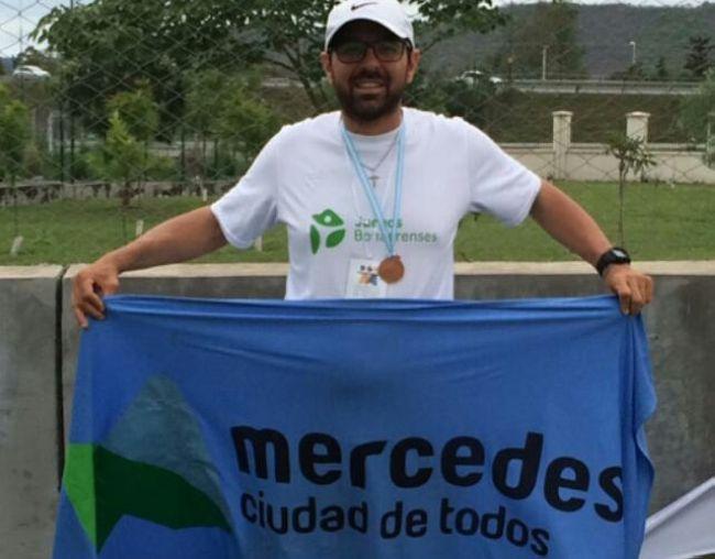 Ramiro Picone obtuvo una medalla dorada y una plateada en los Juegos para transplantados