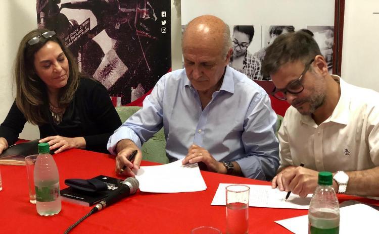 Escuela de Formación Política firma convenio con Instituto Lebensohn