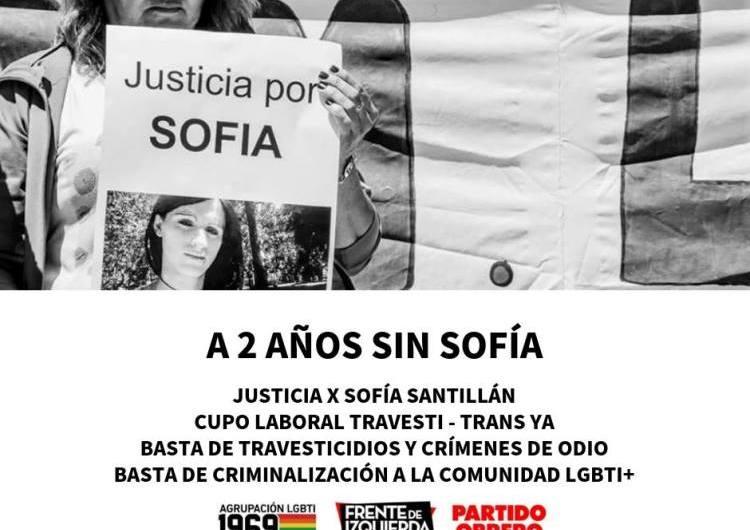 A dos años del asesinato de Sofía Santillán