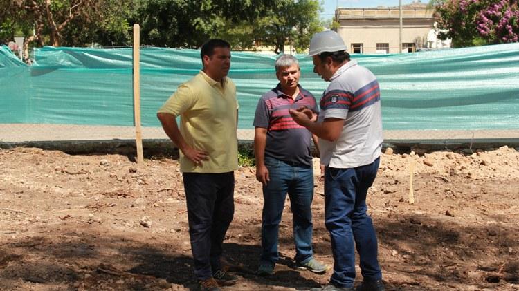 Continúan las obras en la Plaza Belgrano
