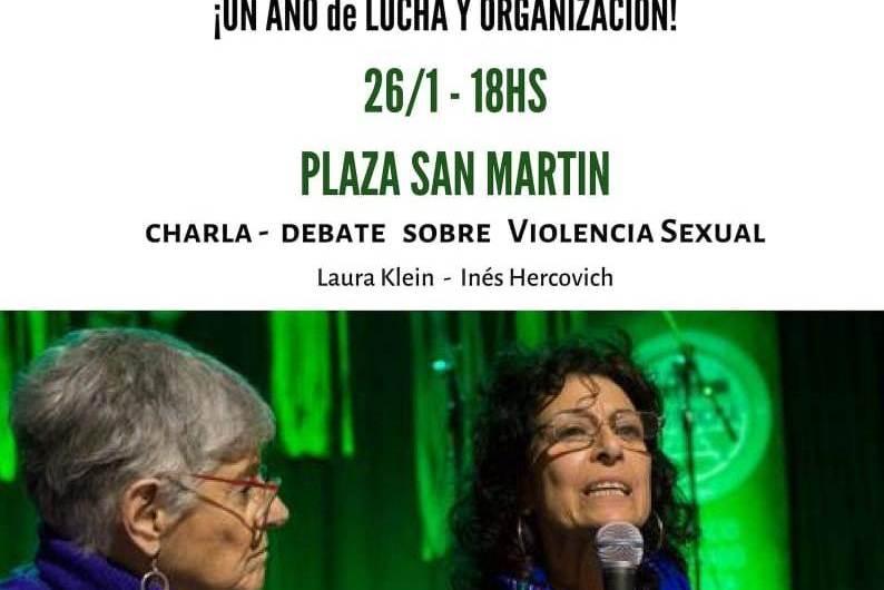 Sábado 26 charla debate sobre violencia sexual