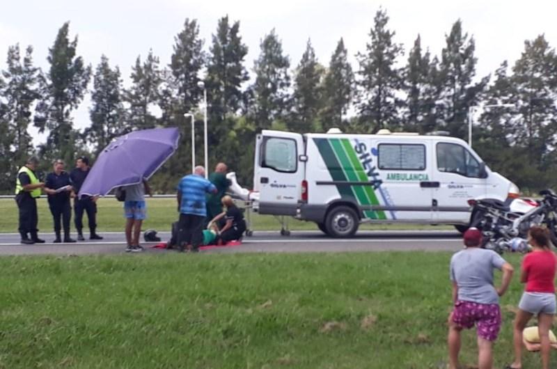 Tres motociclistas chocan en la ruta 5 km 90