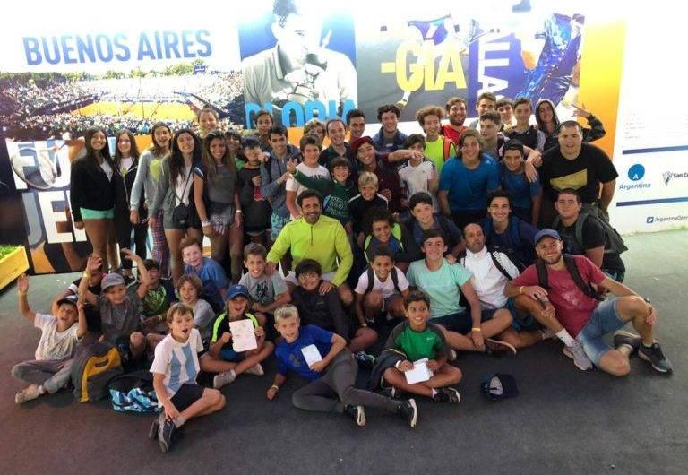 Alumnos de la Escuela de Tenis presenciaron el ATP de Buenos Aires